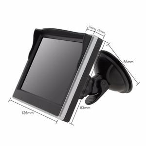 Image 3 - 5 นิ้ว TFT LCD 800x480 16:9 จอแสดงผลกระจกมองหลังรถยนต์ 2 ทิศทางสำหรับด้านหลังดูย้อนกลับกล้อง