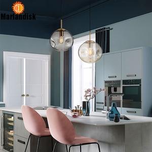 Image 3 - Modern Style Uneven Glass Ball Amber/Grey Graceful Pendant Light E27 Lighting For Dining Room Living Room Showroom Sitting Room