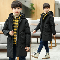 Children Winter Jackets For Boys Teenagers Kids Winter Jacket Boys Parkas Long Down Coat 2018 Warm Clothes Size 10 12 14 16 Year