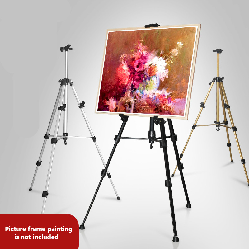 Foldable Easel Display Aluminum Alloy Easel Sketch Watercolor Oil Painting Drawing Frame For Professional Artist Art Tools transon foldable wood easel tabletop easel for artist painting and display sketch easel art supplies