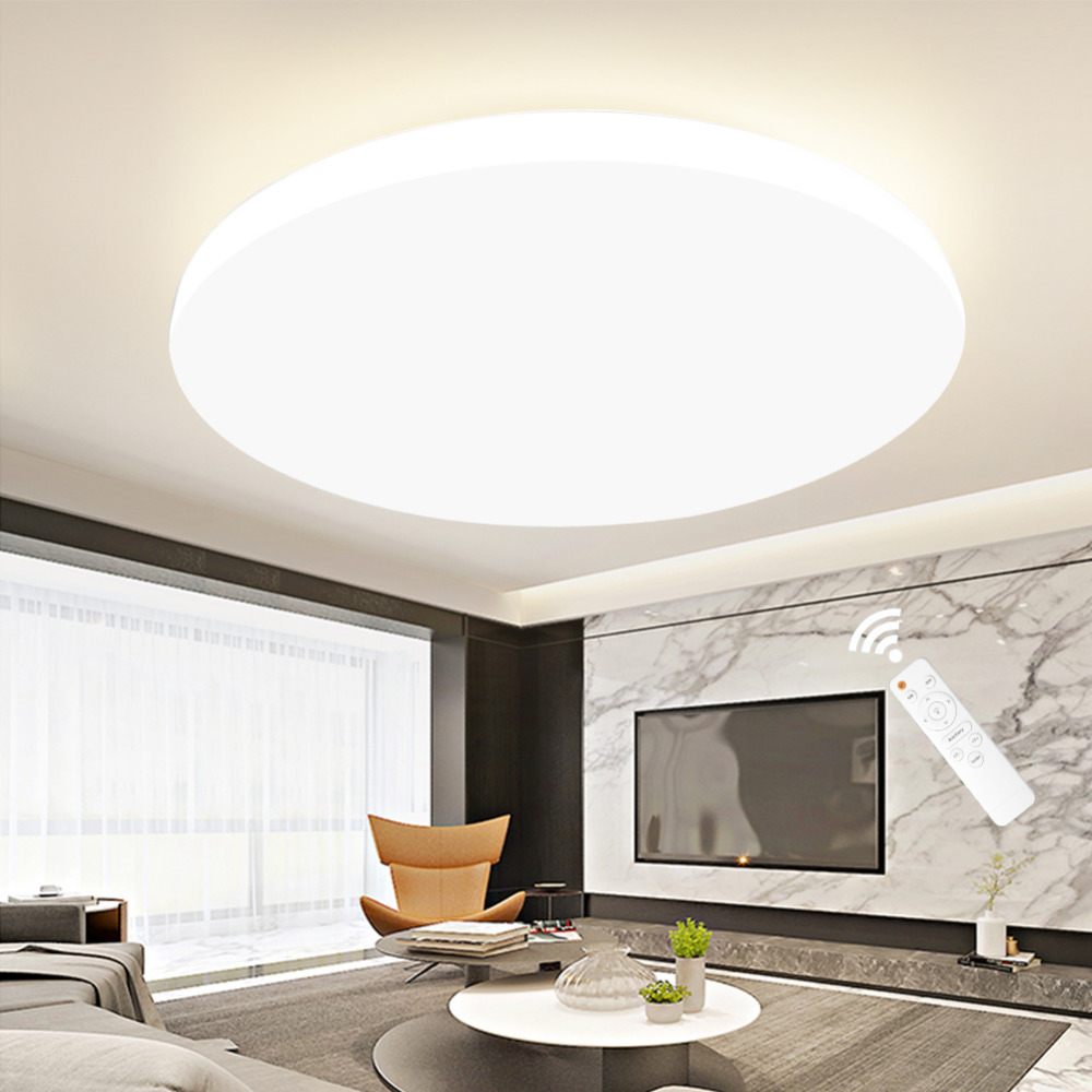 Modern LED Ceiling Light RC dimmable Lighting Fixture Lamp Living Room Bedroom Kitchen Bathroom Surface Mount for Home Decor