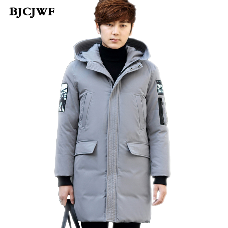 2017 New Winter Mens down jacket White Duck Down Hooded Men Fashion Thick warm Coats down jacket mens Long Parkas down jackets