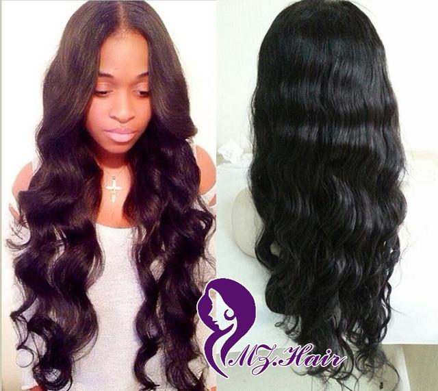 Glueless Full Lace Wigs For Black Women Brazilian Hair Wigs Sale Color 1b  Long Body Wave Lace Front Wigs Cheap Human Hair Wigs cd86aa449bb0