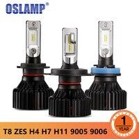 Oslamp New T8 Series LED H4 Headlight H7 H11 9005 9006 ZES LED Headlight 60W 8000LM