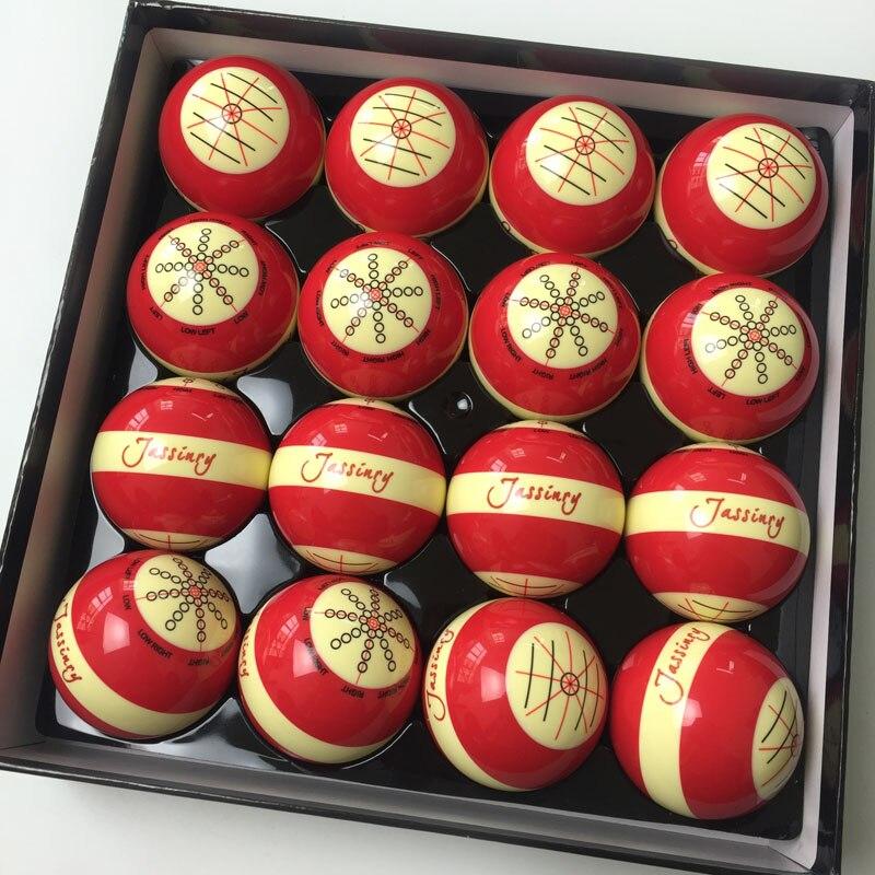 2017 New Jassinry Red Billiard Training ball 1pc Professional Design Pool game 5.72cm CUE balls for billiards Coach Bola balls