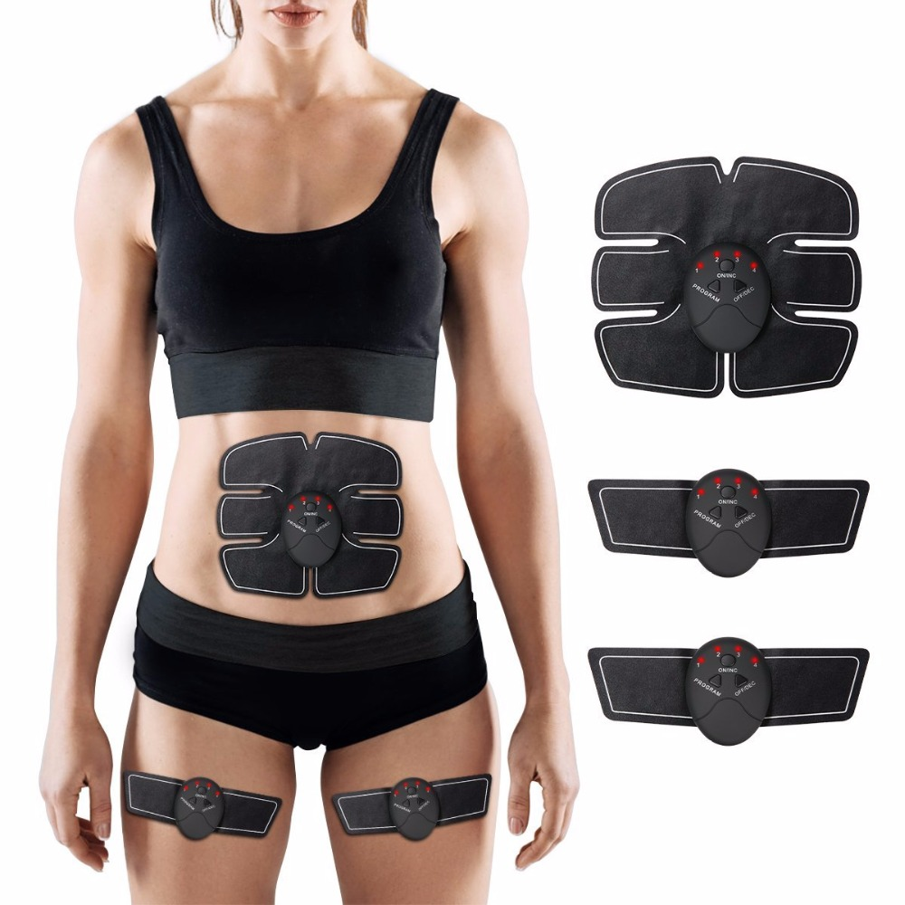 Abdominal Machine Electric Muscle Stimulator ABS Ems Trainer Gym Workout Home Office Fitness Weight Loss Body slimming Massage