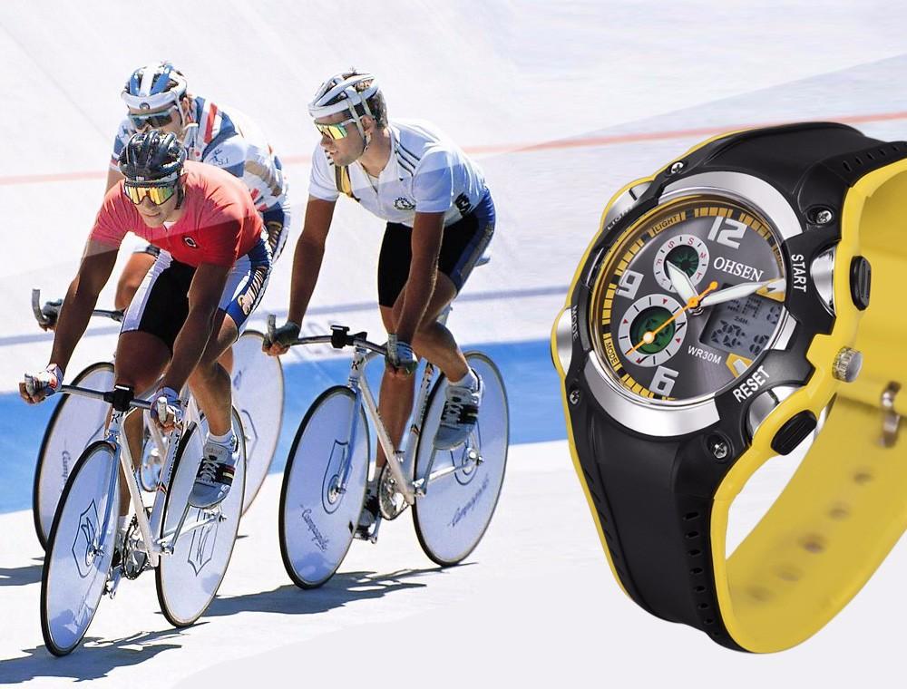 Original Ohsen Brand Fashion Sports Men's Watches 30M Waterproof Rubber Black Rubber Band Digital Sport Wristwatch for Men Gift (14)