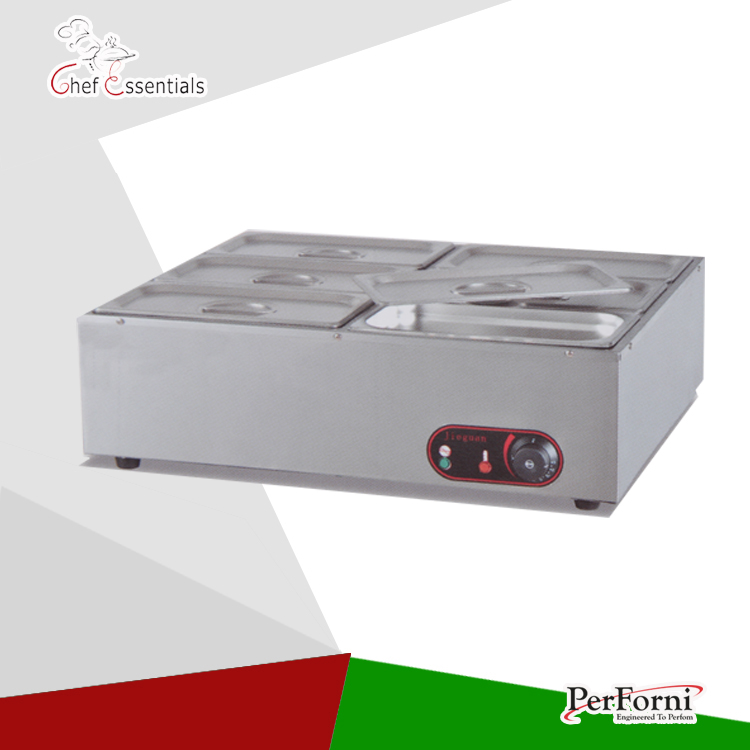 PKJG-EH6 electric bain marine stainless steel food warmer counter top electric buffet soup food warmer mtr marine 3 6 bms