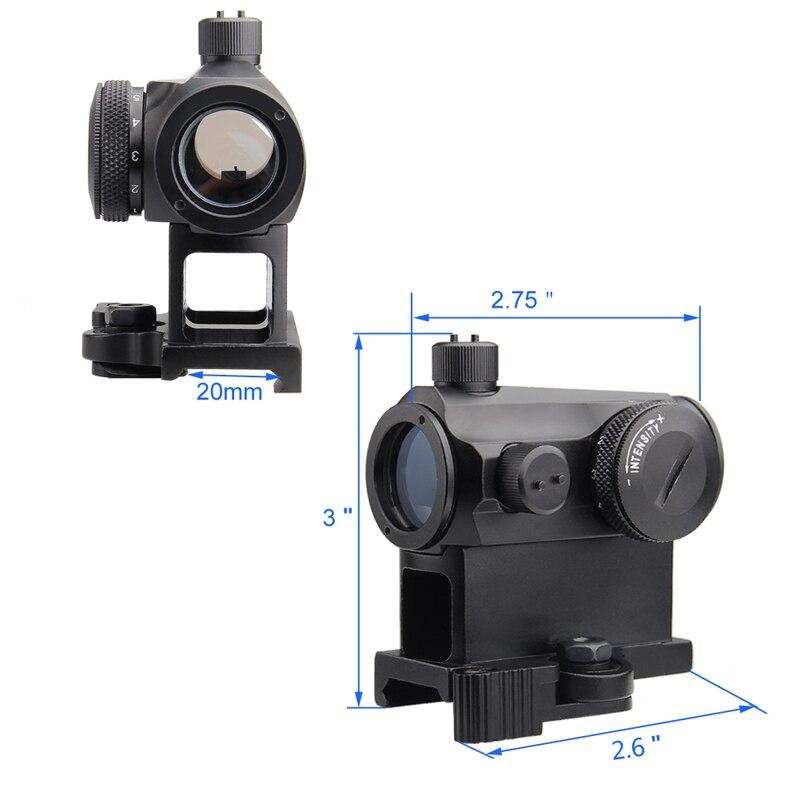 Nova visão óptica mini micro 1x24 reflex