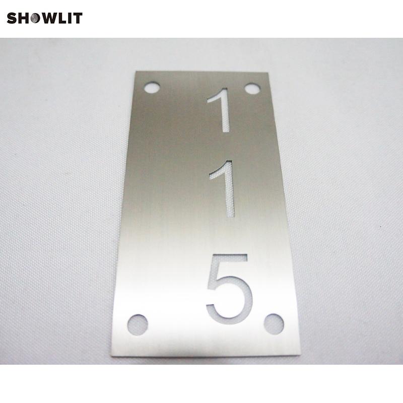 Vertical Brushed Custom Wall Address PlaqueVertical Brushed Custom Wall Address Plaque