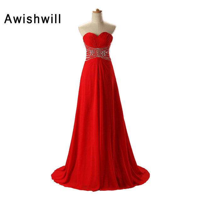 Red Color Women\'s Prom Dresses 2018 Trendy A line Evening Dresses ...