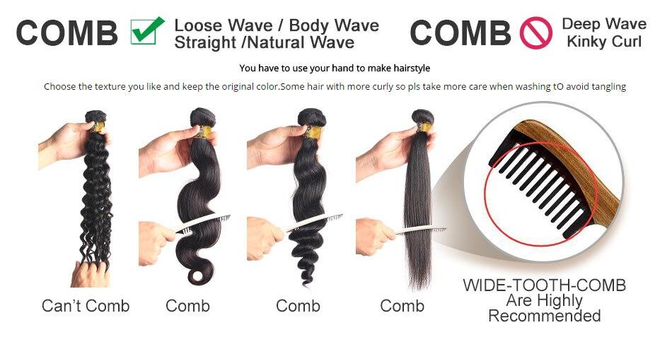 5 brazilian human hair bundles