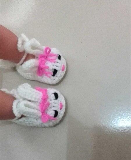 Вязание крючком детские пинетки обувь Классический круглый год дома Банни Шлёпанцы для женщин