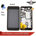 100% garantía de lcd para nokia lumia 530 n530 lcd display + touch screen digitizer completo montar
