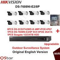 Hikvision Original English Outdoor Surveillance System DS 2CD2T42WD I5 4MP IP CCTV Camera POE 6MP Recording