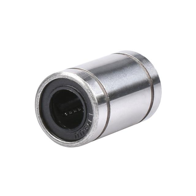 CNC LM8UU Ball Bearings 8mm Bushing 3D Printers Parts Rail Linear Long Rod Shaft Part 8mm*15mm*24mm Aluminum Bush For 3D Printer