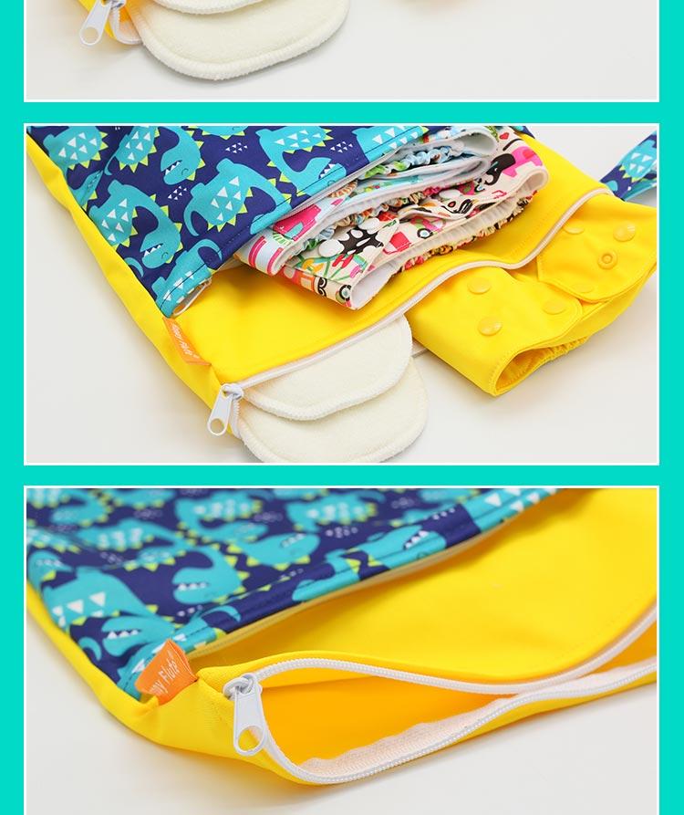 HTB16rHKcStYBeNjSspaq6yOOFXaE HappyFlute Baby Diaper Bags Double Zippered Wet/Dry Bag Waterproof Wet Cloth Diaper Backpack Reusable Diaper Cover WetBag