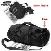 Smalotus Men Nylon Cylindrical Gym Sports Bags Women Oxford Portable Single Shoulder Barrel Fitness Bag Handbag