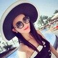 Женщины Все-Матч Широкими Полями Шляпа Солнца Летом Пляжный Отдых Складной Шляпа