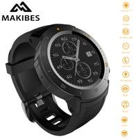 MAKIBES A4 4G 530 мАч 1 + 16 ГБ Водонепроницаемый воспроизведения музыки умные часы спортивные gps часы телефон Шагомер Smartwatch для MI8 IOS Android