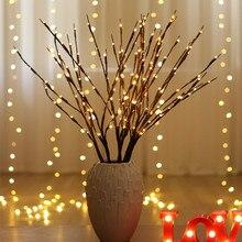 """Светодиодный светильник """"Ветка ивы"""" на батарейках, декоративные светильники, высокая ваза, наполнитель, ивовая веточка, светящаяся ветка для украшения дома"""