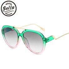 Sella New Arrival Fashion Women Men Oversized Pilot Sunglasses