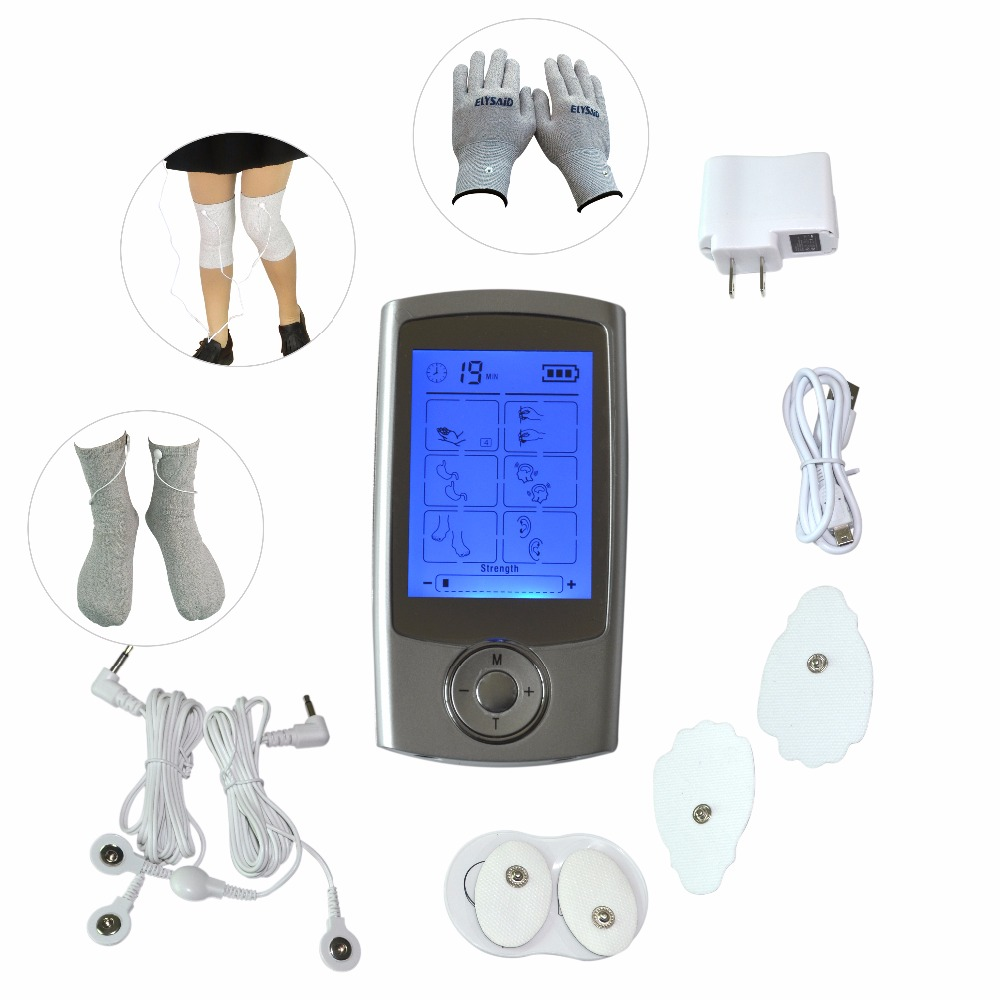Dual Channels Tens Set Electric Massager Therapy Machine Muscle Stimulator With Electrode Conductive Gloves Socks Kneepads vitaly mushkin caza de sexo atrapa a la chica desnuda