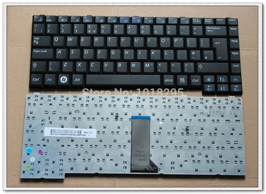 New UK brand laptop keyboard for samsung q308 q310 Black