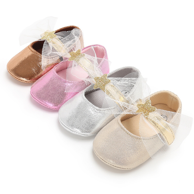 2018 Lovely Riband Baby Girls First Walkers Bling Infant Shallow Shoes Drop Shipping Toddler Shoe