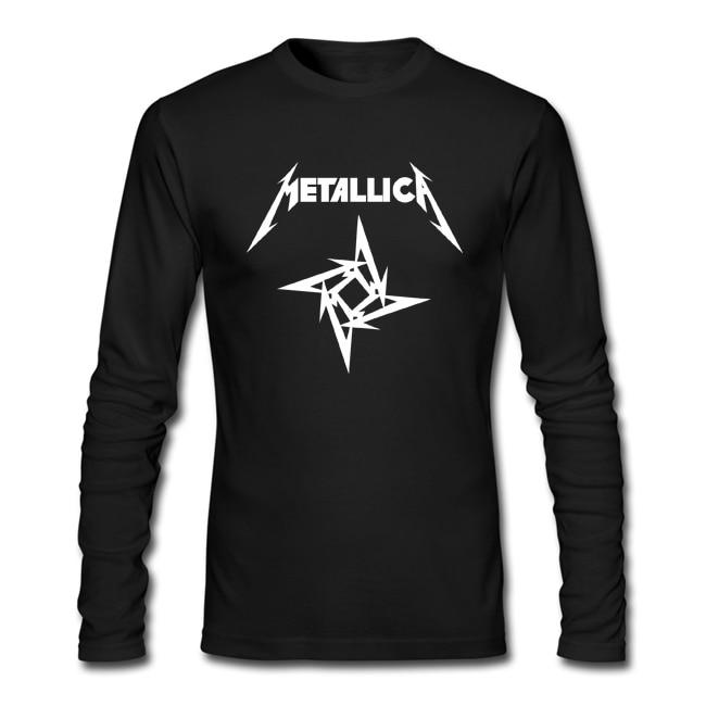 Merry Christmas Men 39 S Metallica Printed Long Sleeve T
