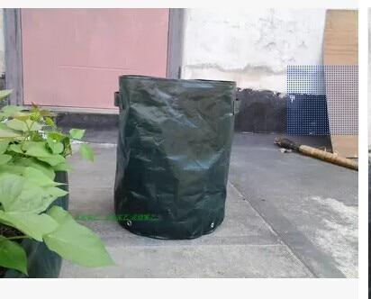 Outdoor bonsai planting vegetable planting pots dark green PE material 35x45 cm 360 g 50 l