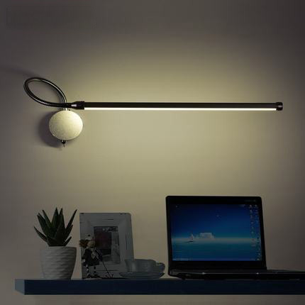 Modern Wall Lamp Mounted Swing Arm Lights Creative Three Color Temperature Bedside Reading