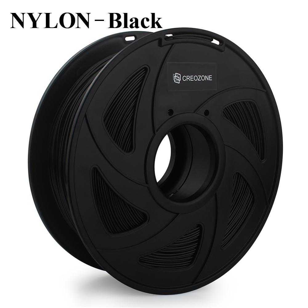 CREOZONE Premium Quality Nylon Filament For 3D Printer Durable Wear-Resistant 3D Printing Materials Black Color 1.75 1KG Spool