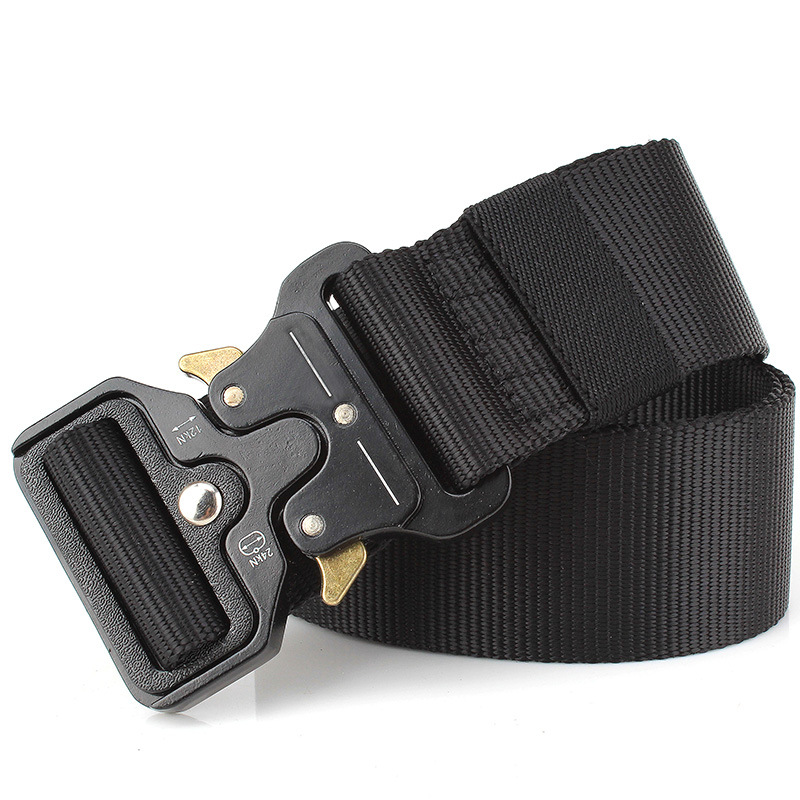 125-140cm Wholesale 4.5cm Multi-function Belt Nylon Tactical Belt Belt For Men Large Size Waistline Automatic Buckle