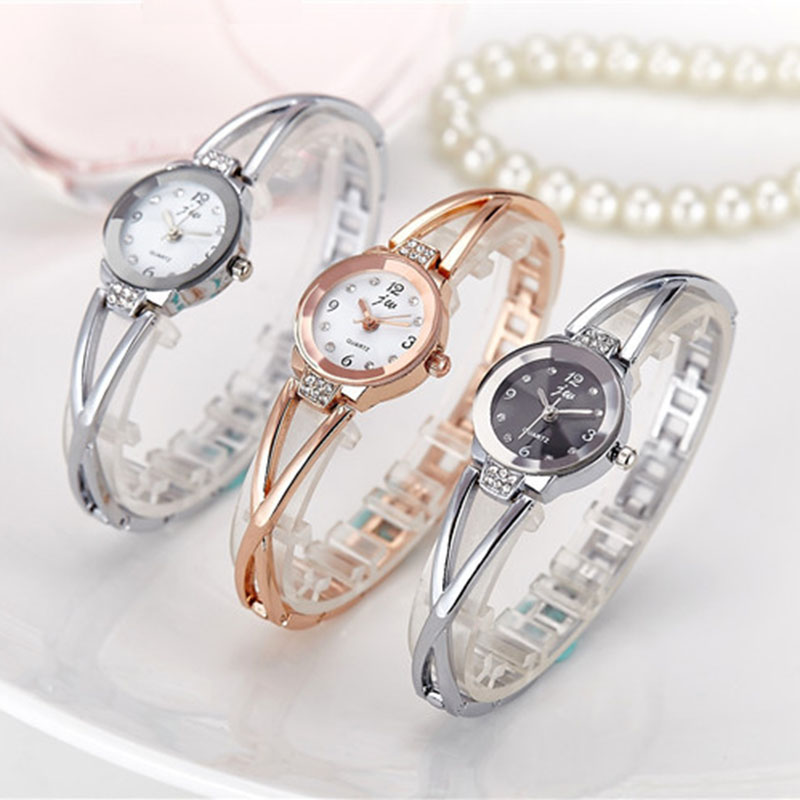 Luxury Brand JW Crystal Watch Rhinestone Watches Women Rose Gold Casual Bracelet Ladies Quartz Dress Wristwatch Wrap Lady Saat bs brand women luxury fashion rhinestone watches lady shining dress watch square bracelet wristwatch ladies diamond quartz watch