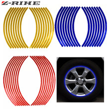 Motorcycle Styling Wheel Hub Rim Stripe Reflective Decal Stickers Safety Reflector For YAMAHA HONDA SUZUKI KTM KAWASAKI BMW