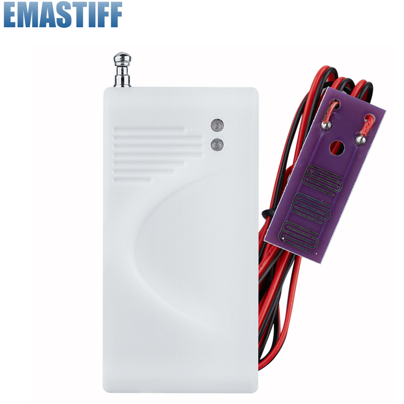 Wireless Water Intrusion Leakage Sensor Detector 433MHz for gsm alarm system wireless vibration break breakage glass sensor detector 433mhz for alarm system
