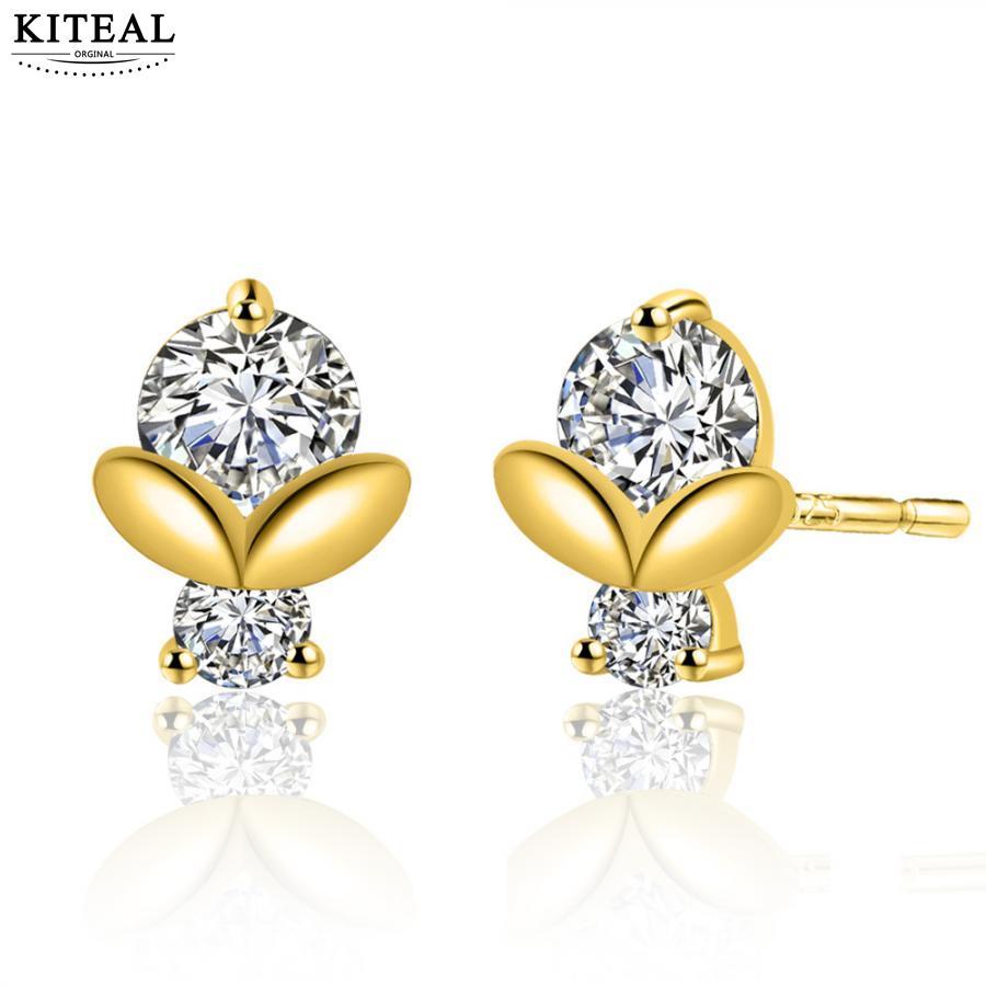 KITEAL Mode schmuck charms weibliche ohrring Zarte blatt ohr nagel persönlichkeit earing Geschenk für sie