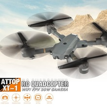 Attop XT-1 Wi-Fi 2,4G FPV Дрон с камерой 3D флип высота удержания складной один ключ Взлет/посадка Безголовый режим RC Квадрокоптер