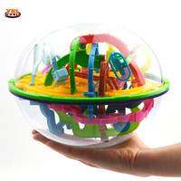 2017 299 Steps 3D Maze Ball Magical Intellect Puzzle Ball Toy Intelligence Challenge Games Kids Balance