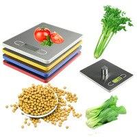 3 Jednostek 5 KG/1g Wyświetlacz LCD Kuchnia Urządzenie Elektryczne Food Diet Pocztowy Skala Wagi Cyfrowe Skalę Ważenia narzędzie z Tacy (żółty)