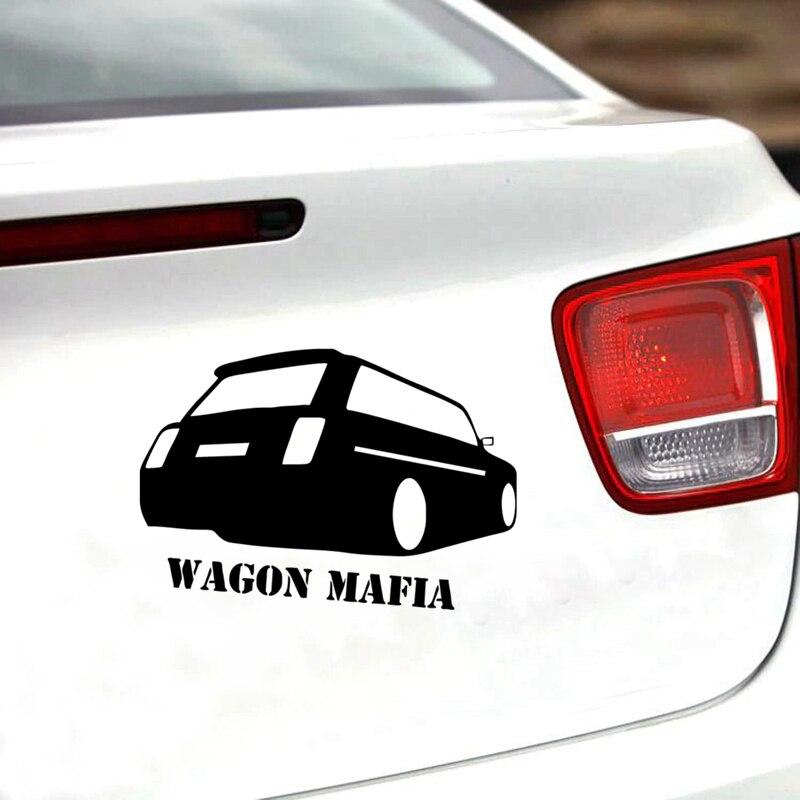 Wagon Mafia Funny vinilo pegatina para coche