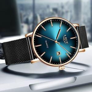 Image 2 - 2019 שעון נשים פשוט אופנה ליגע למעלה מותג קוורץ שעון יוקרה Creative עמיד למים תאריך מקרית גבירותיי שעון Relogio Feminino