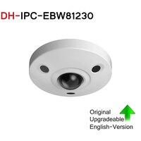 DH 12MP IP Panoramic Fisheye Camera IPC EBW81230 replace IPC EBW81200 H.265 POE IR10m IP67 mini camera Micro SD memory IK10