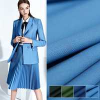 150CM Wide 260G/M Weight Green Blue Solid Color 75% Wool 25% Polyester Fabric for Autumn Spring Suit Dress Coat Jacket DE664