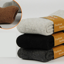 Winter new men in tube thickening rabbit wool socks Thick solid warm men and socks Casual