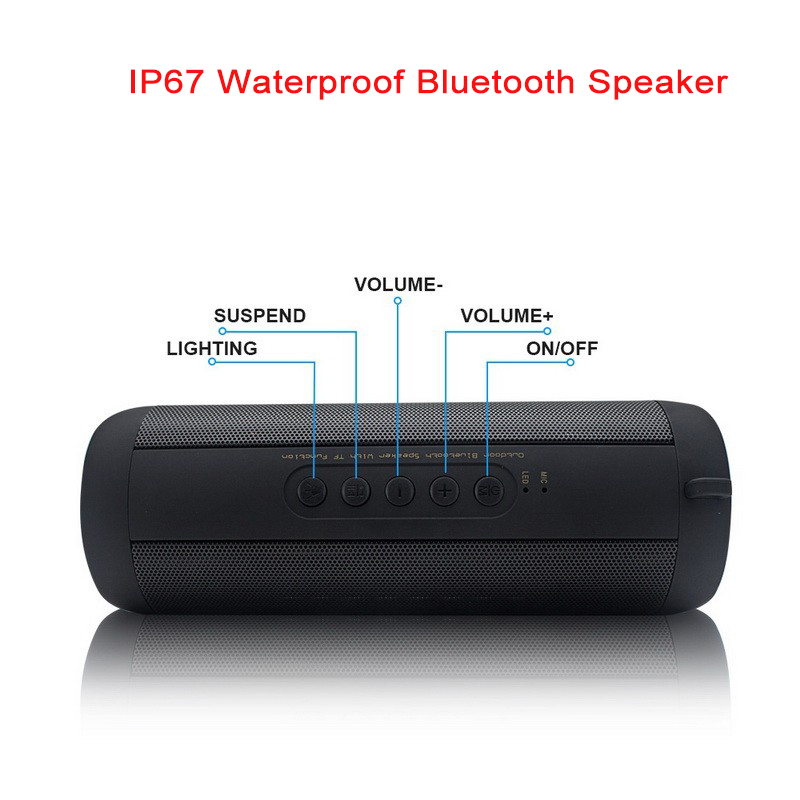 IP67 Bluetooth Speaker Waterproof Portable Outdoor Mini Column Bicycle Travel Sound Box Bass Stereo TF FM Radio for xiaomi MP3