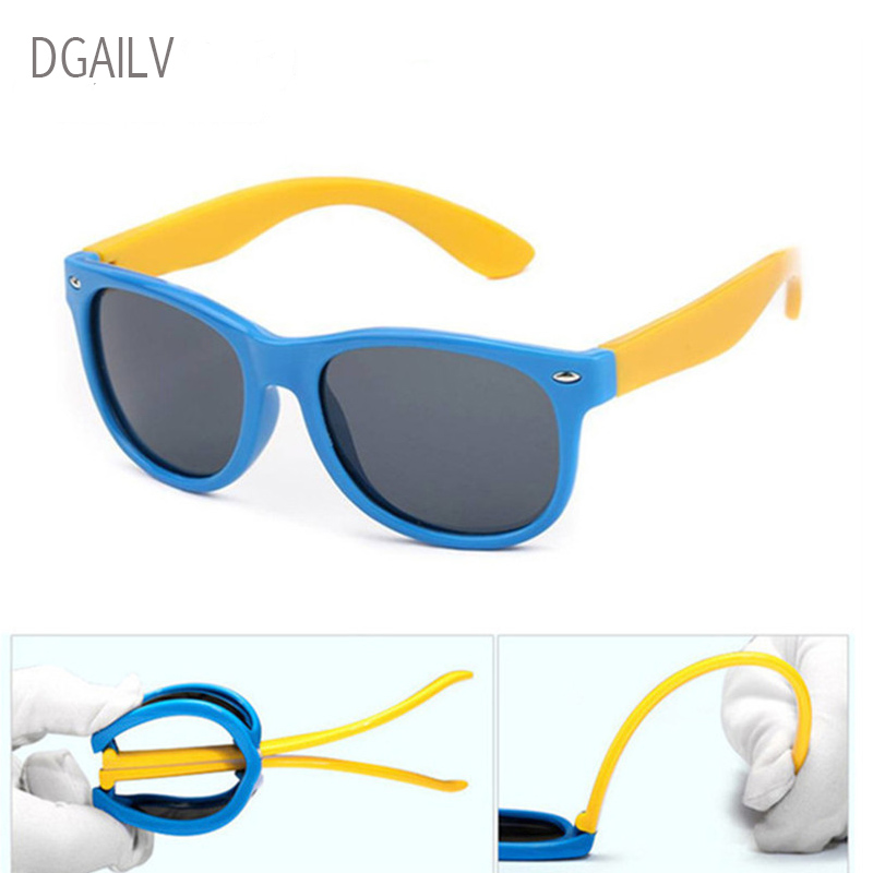 DGAILV TR90 Flexible Kids Sunglasses Polarized Child Baby Safety Coating Sun Glasses UV400 Eyewear Shades Infant oculos de sol
