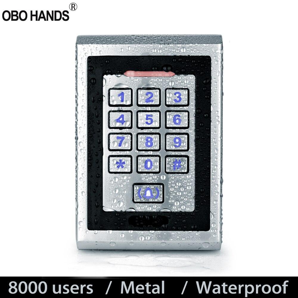 125 кГц RFID Клавиатура IP65 Водонепроницаемый контроль доступа доска непромокаемый металлический EM пропуск считыватель + 10 ключей для системы дверного замка WG26/34