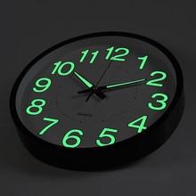 1pcs 12 Inch Luminous Wall Clock Glow In The Dark Quartz Wat